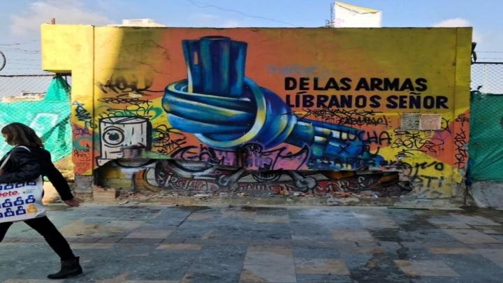 Grafiti ya inexistente en la carrera séptima con calle 19