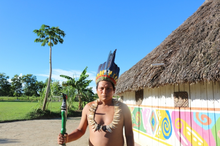 Santiago Kuetgaje, gobernador indígena del Resguardo Maguaré.
