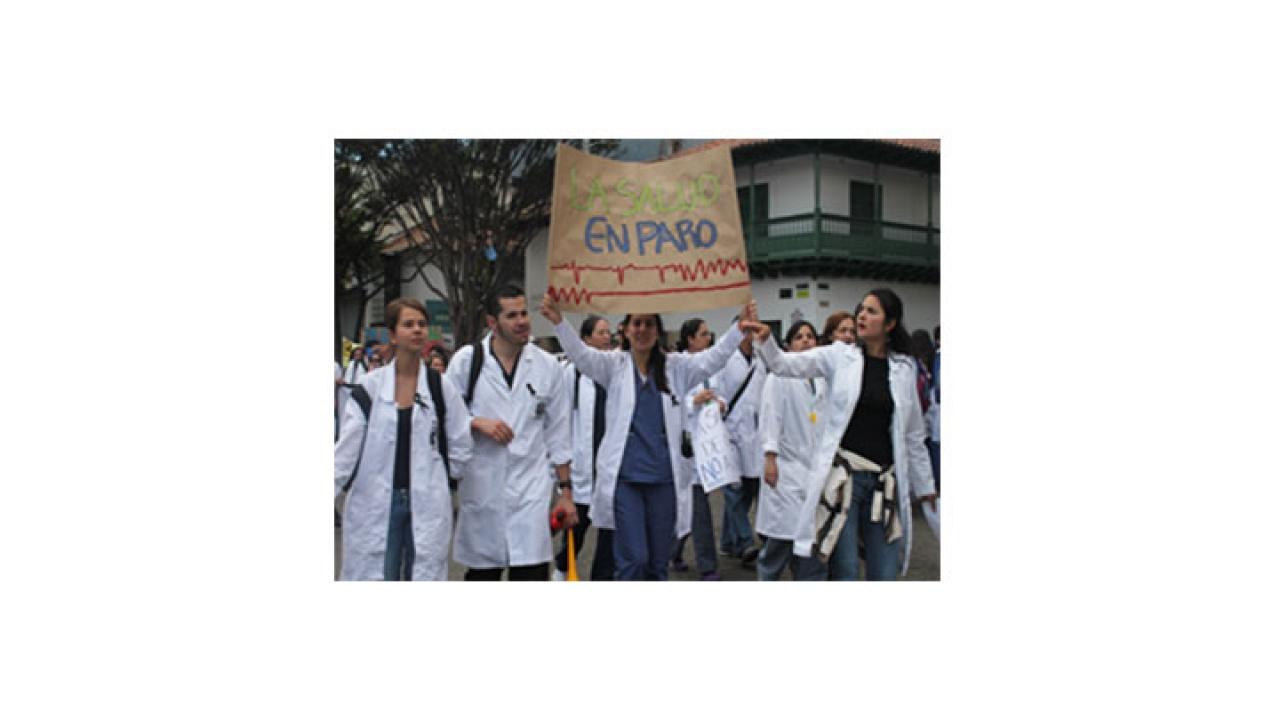 Sector salud protestó en contra de la Reforma