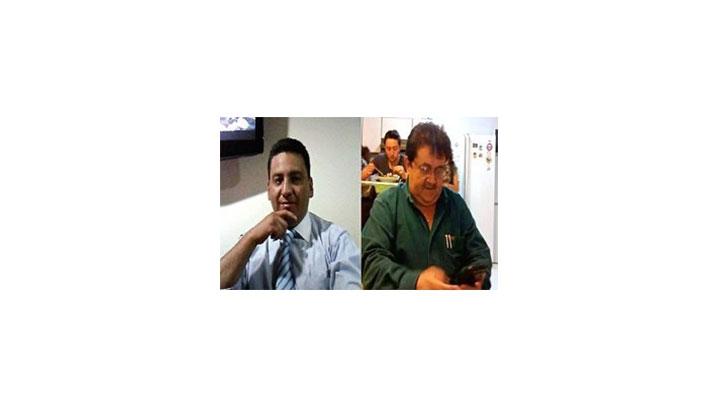 Reynel Corredor de Uber y Helí Barrantes de Taxis Libres.