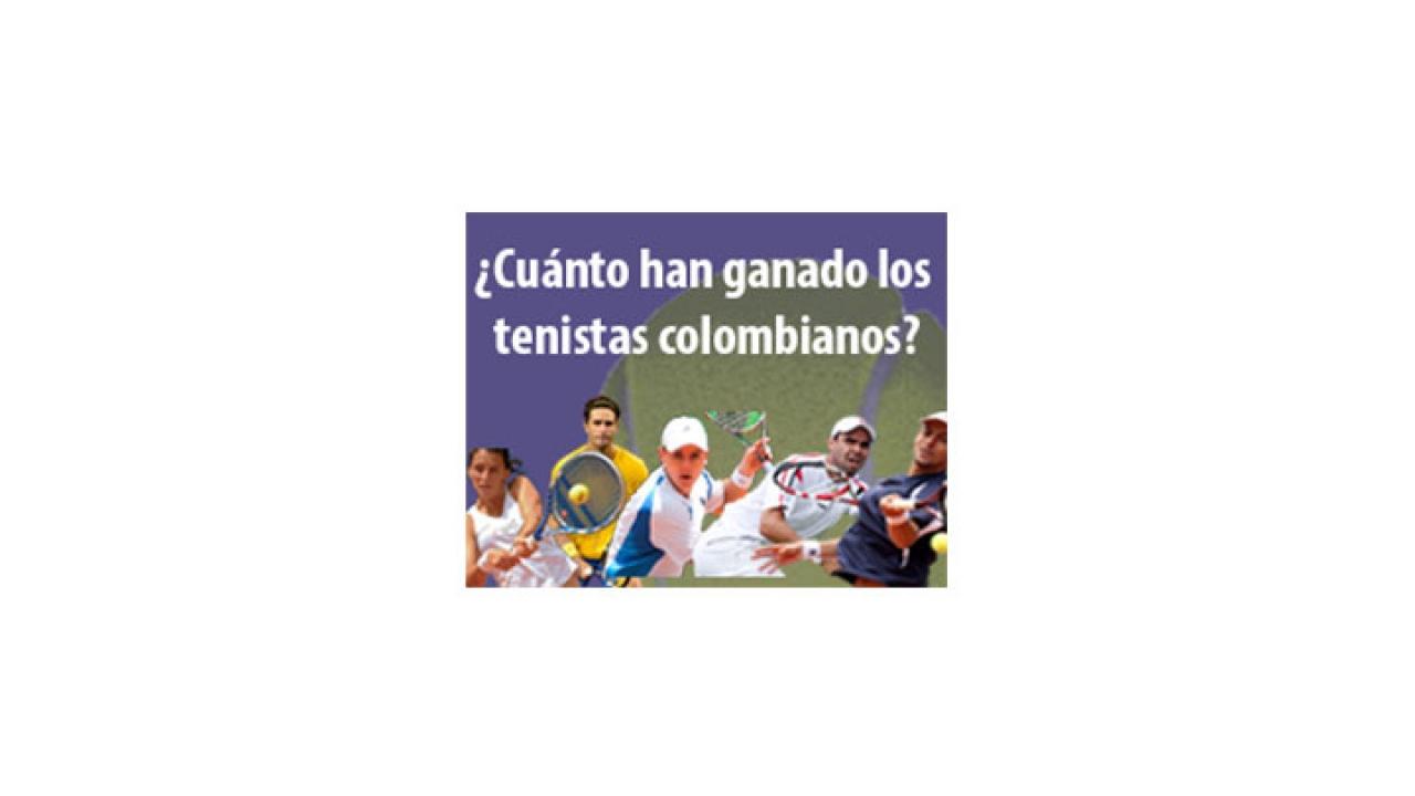 ¿Cuánto cobran los tenistas colombianos?