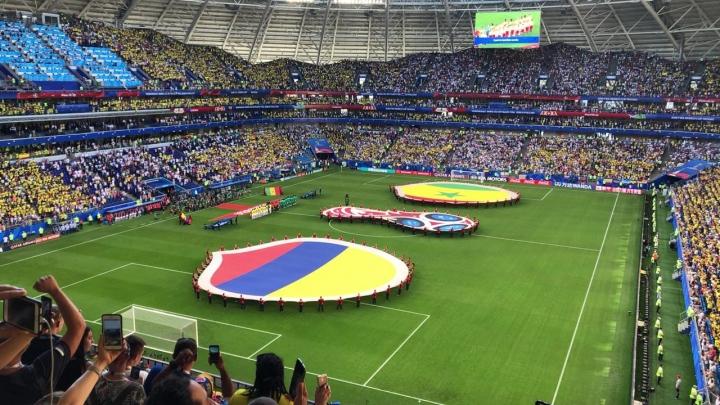 Colombia derrotó a Senegal y se clasificó primera de su grupo. Foto: Mauricio Duque