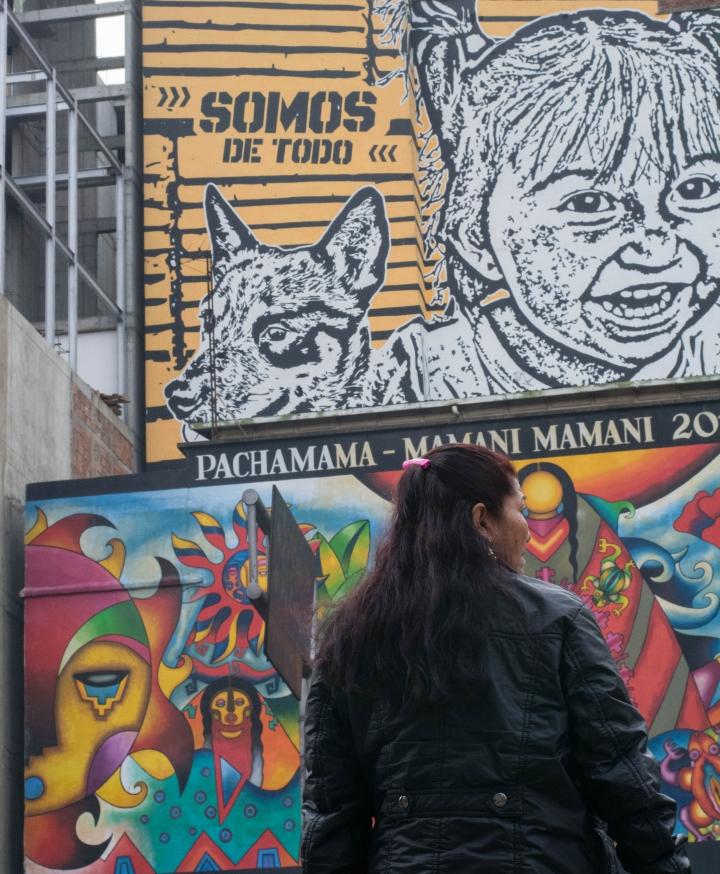 Rostros y murales: la pacha mama. Foto: Julián Ríos