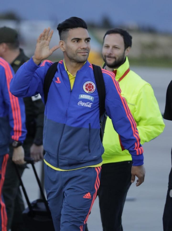 Radamel Falcao García antes de partir a la concentración en Italia