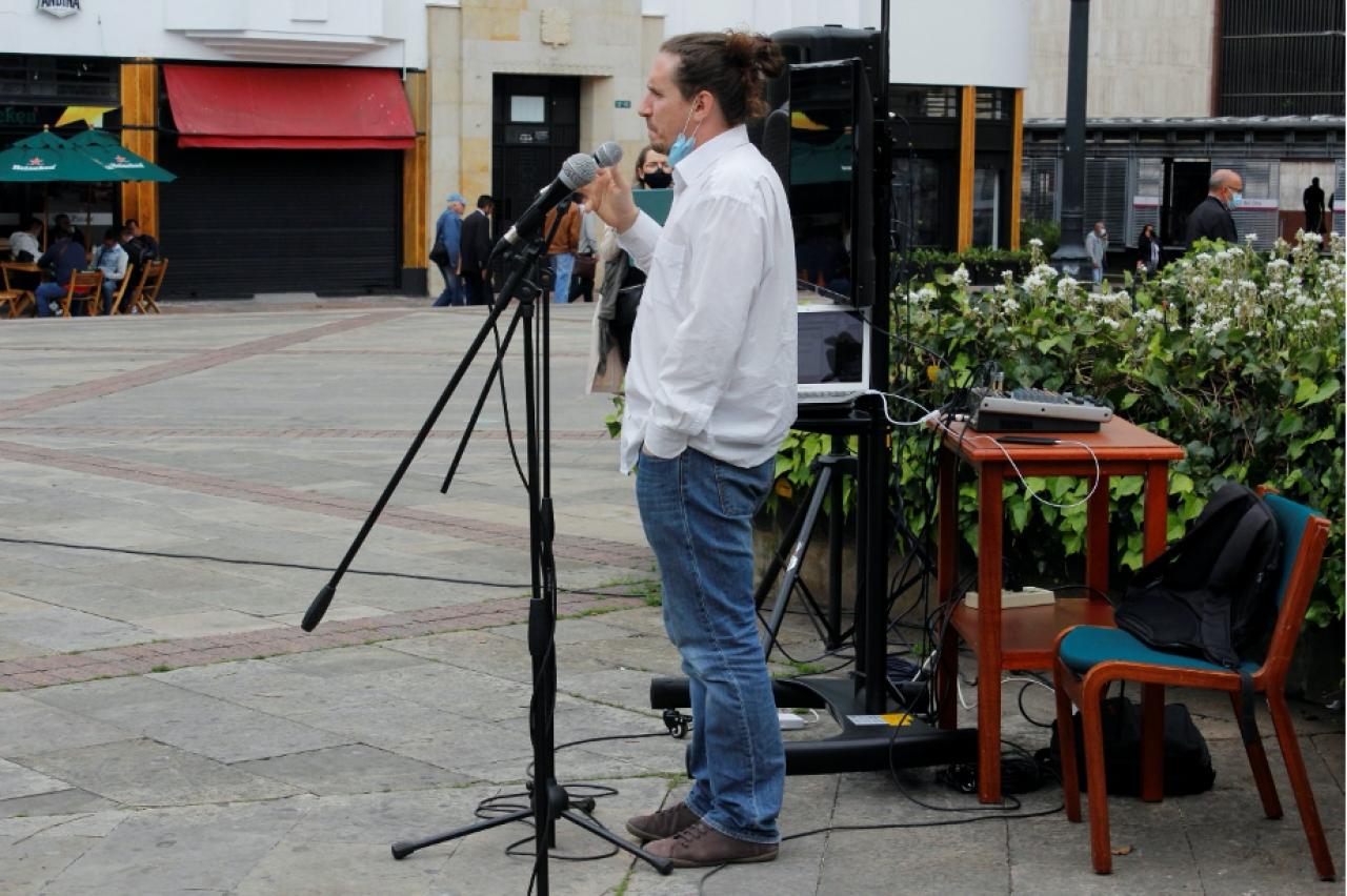 Las universidades sacaron las clases del aula a la calle, en el centro de Bogotá