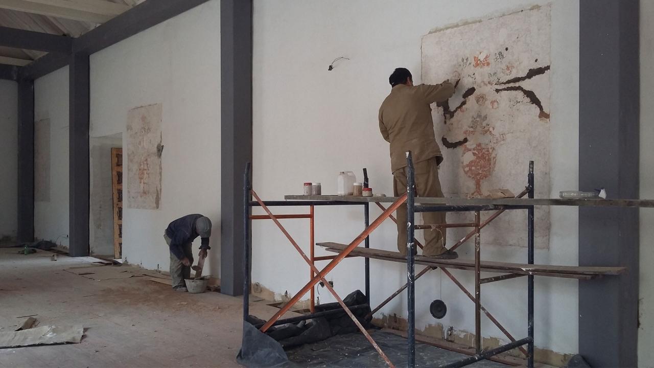 Proceso de restauración en el Museo Colonial