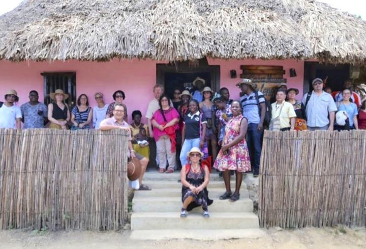 Participantes del Intercambio de Memoria Transformativa en la Casa Museo de San Basilio de Palenque