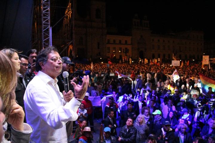 El candidato presidencial Gustavo Petro. Foto: Santiago José Buenaventura