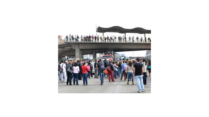 Los transportadores se manifestaron en Bogotá