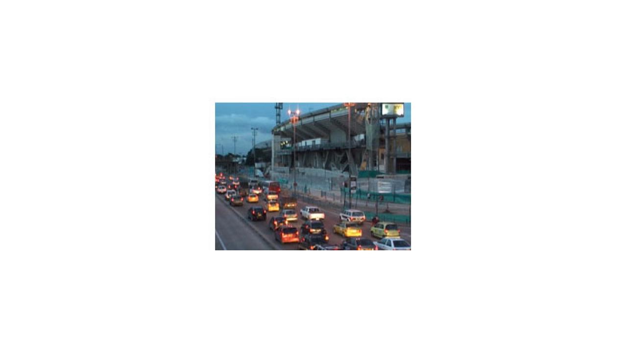 Inmovilidad vial durante el mundial sub20 en Bogotá