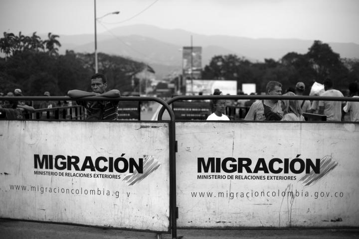 Puente Simón Bolívar en la frontera entre Colombia y Venezuela (Norte de Santander)
