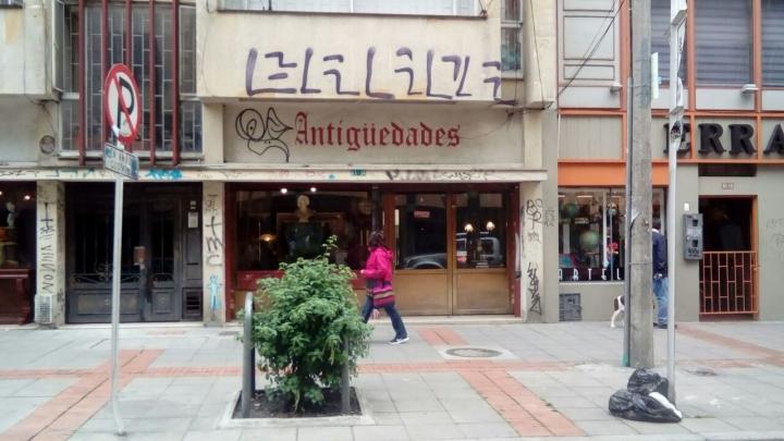 Sector de antigüedades en Chapinero. Crédito foto: Angie Rangel