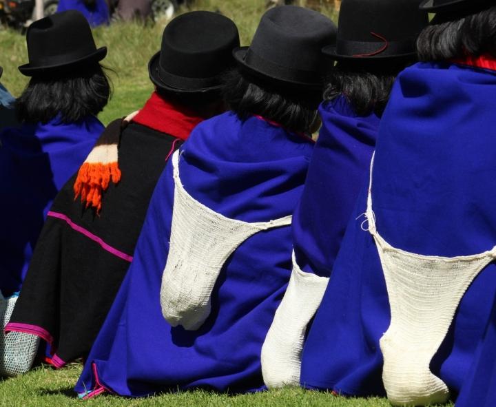 Foto referencial de los indígenas misak