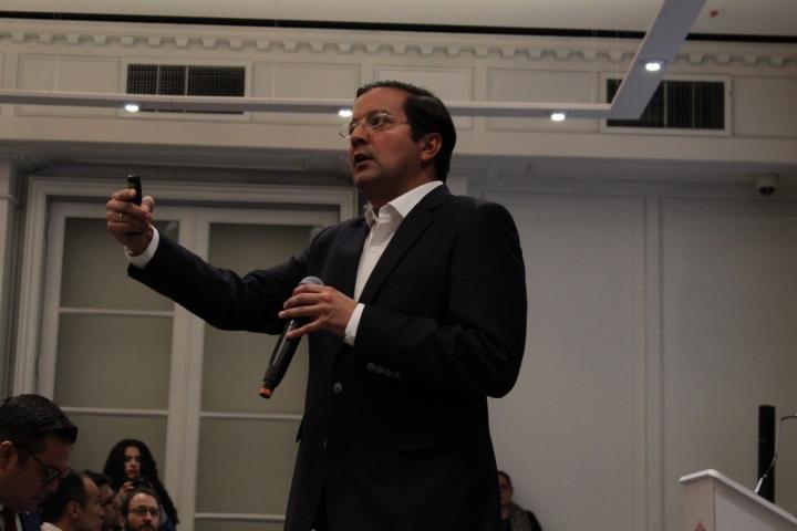 El ministro de las TIC, David Luna en la Universidad del Rosario. Foto: Luz Mariana Rojas