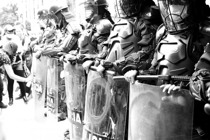 Plantón feminista del 15M en Bogotá