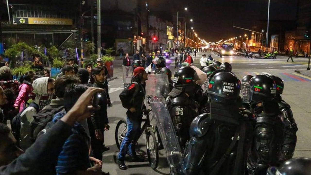 Manifestaciones por aumentos en el pasaje de transmilenio