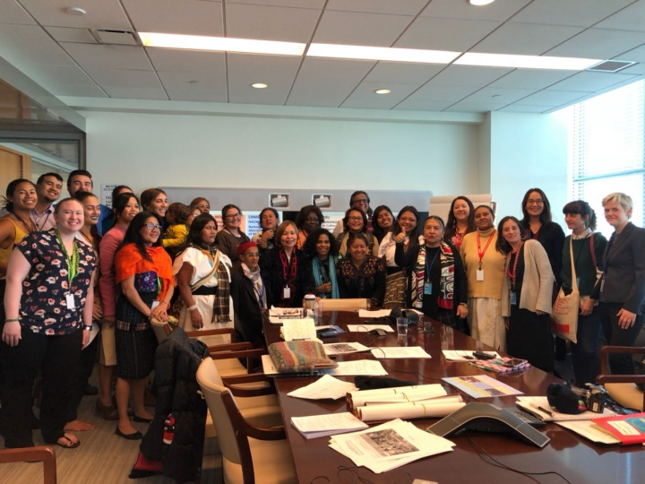 Participantes del Foro Permanente de la ONU para las Cuestiones Indígenas. Foto: cortesía de la Escuela Intercultural de Diplomacia Indígena