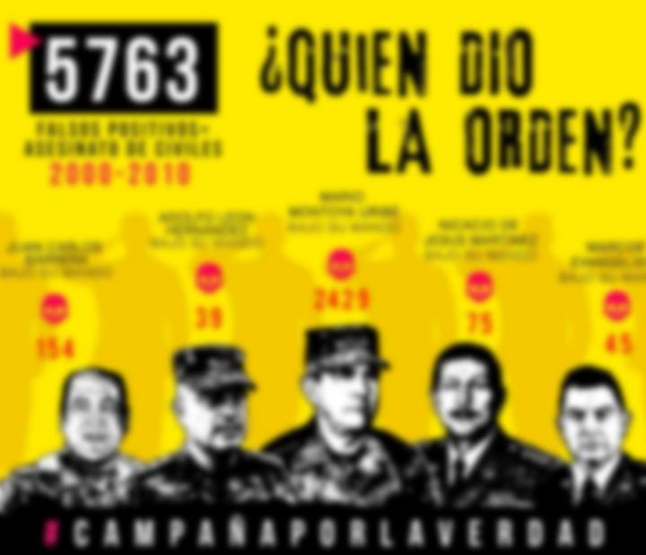 """""""¿Quién dio la orden"""", el mural que pide una respuesta sobre los responsables de los falsos positivos"""