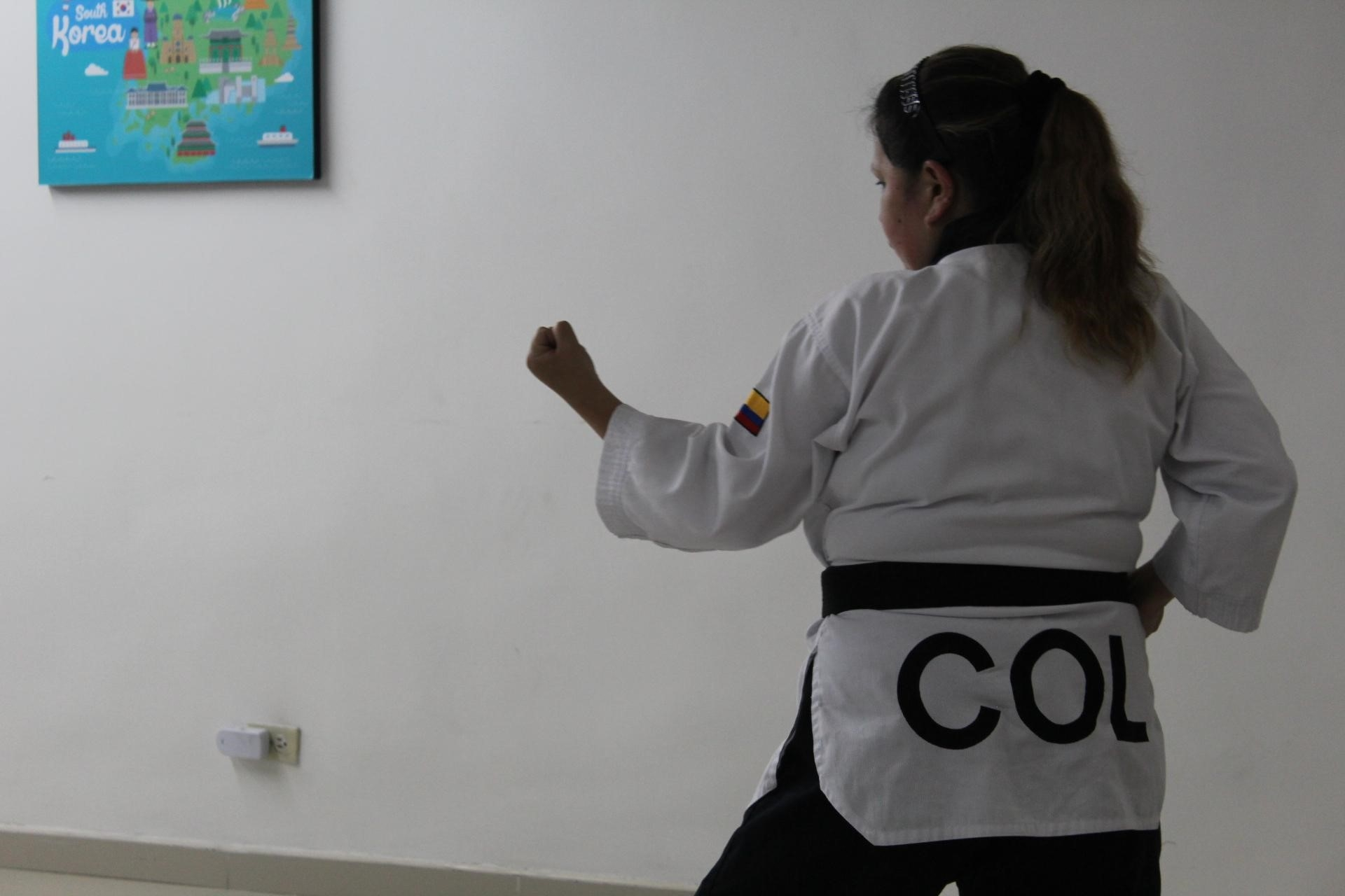 Jhormary Rojas entrenando. Fotos: Daniela Mafla Zafra