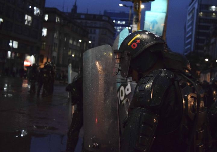 Los miembros del Esmad fueron los encargados de detener a los manifestantes