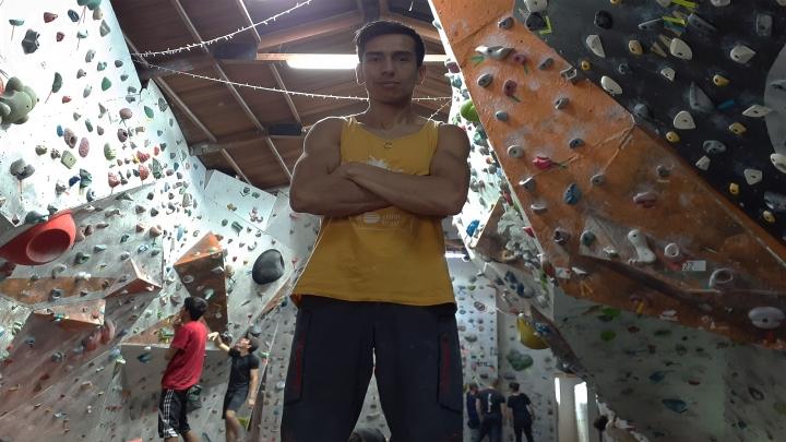 Sebastián Prieto en el gimnasio Roca