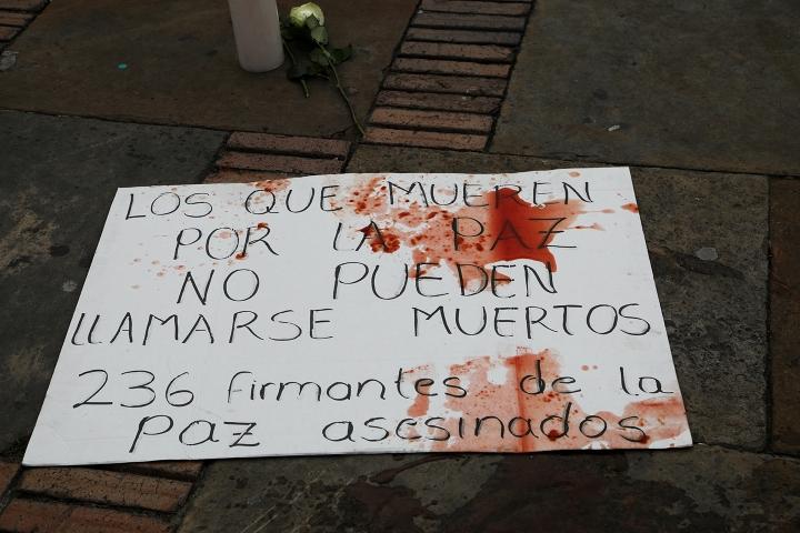 Performance de las mujeres de las FARC en Bogotá (Noviembre, 2020)