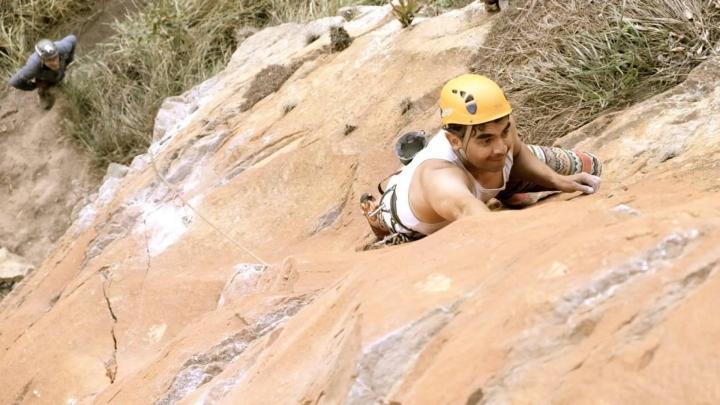 Camargo en una expedición de escalada
