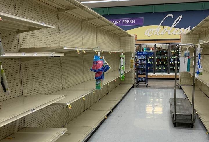 Los productos son escasos en supermercado de San Ramón, California