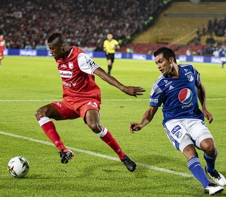 Clásico Bogotano entre Millonarios y Santa Fe. 3 de marzo 2020.