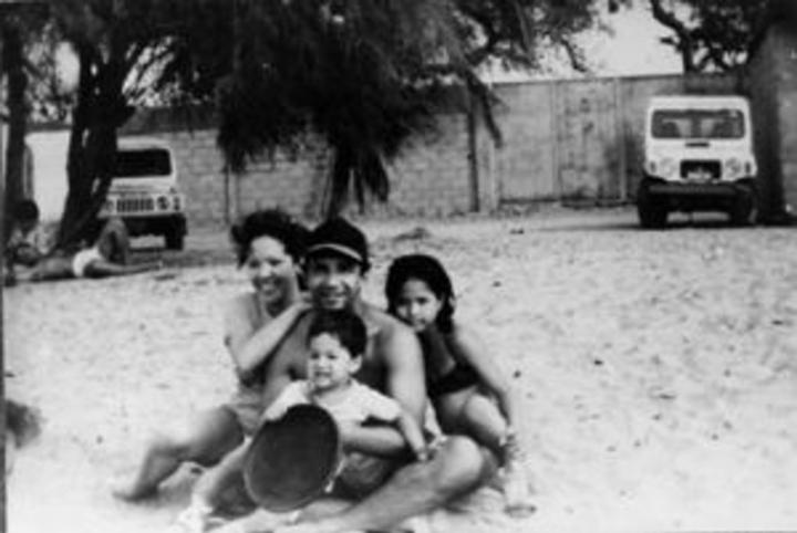 José Antequera, esposa e hijos