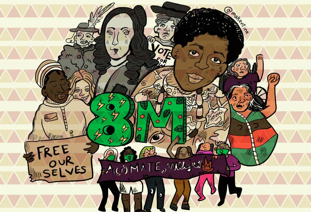El 8M es la lucha interminable de las mujeres en el mundo