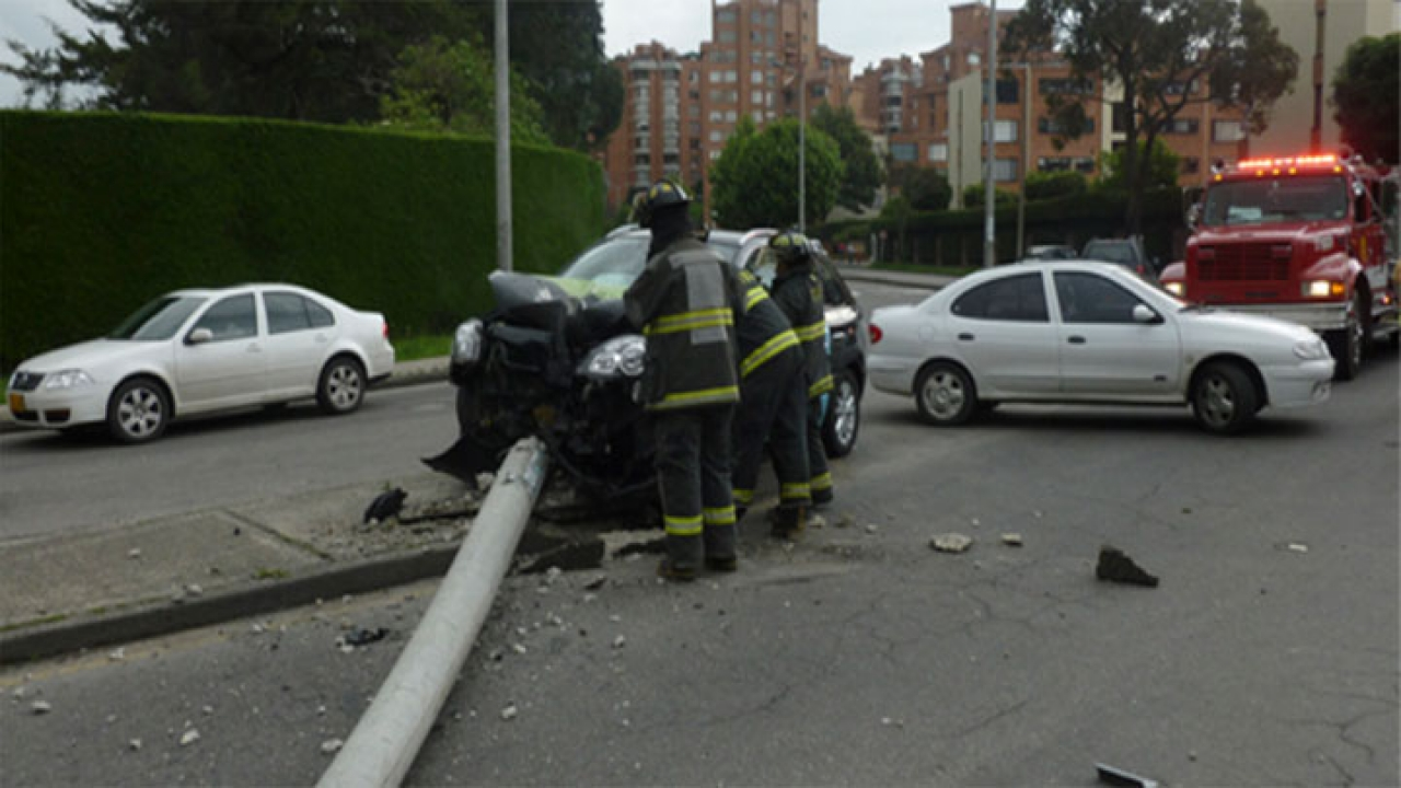 Fuerte accidenten vehicular