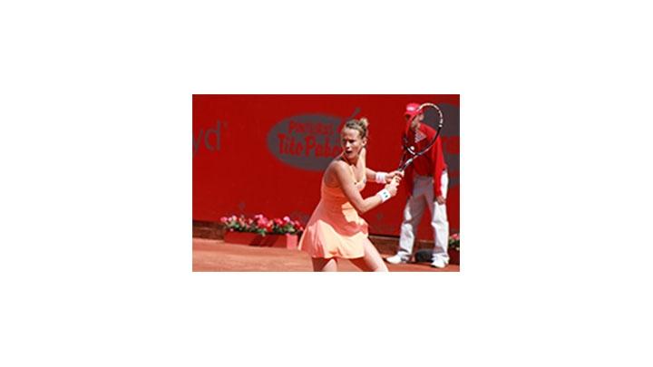 Mathilde Johansson, tenista francesa durante el Claro Open Colsanitas 2014