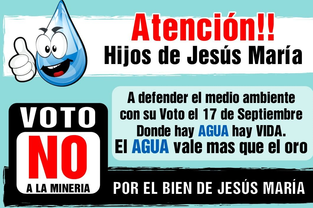 La población de Jesús María hace consulta sobre minería