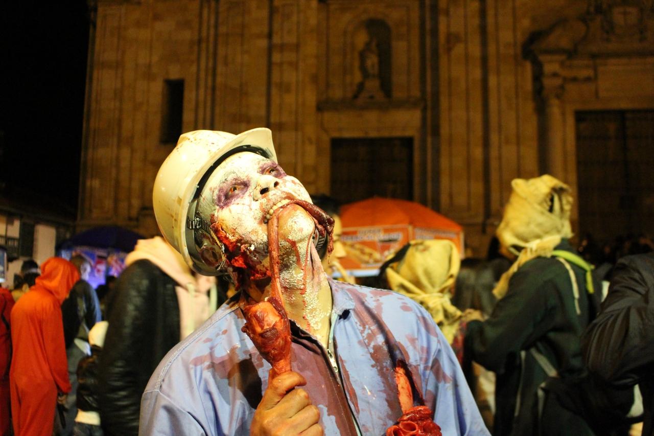 Así se celebró la XVII edición de la Marcha Zombie en Bogotá
