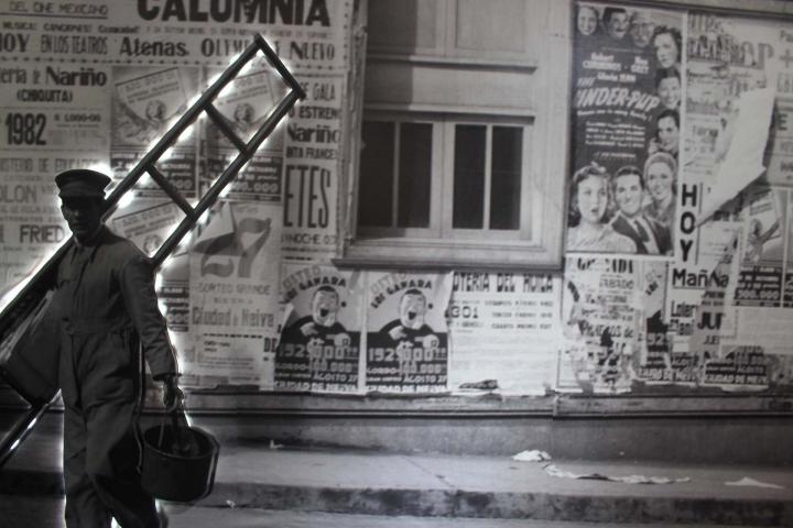 Fotografía gigante en la sala dos del Museo de Bogotá