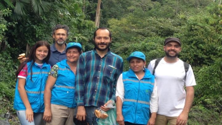 Doris Acero en un recorrido con profesores turistas de Medellín en el año 2019